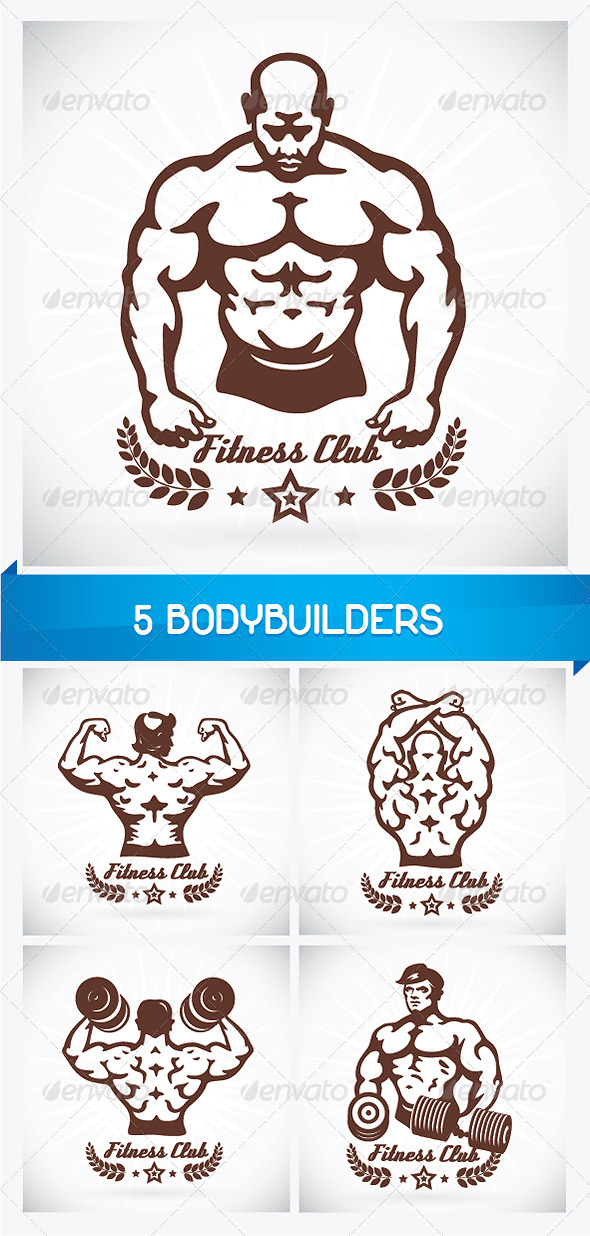5 Bodybuilders  - People Characters