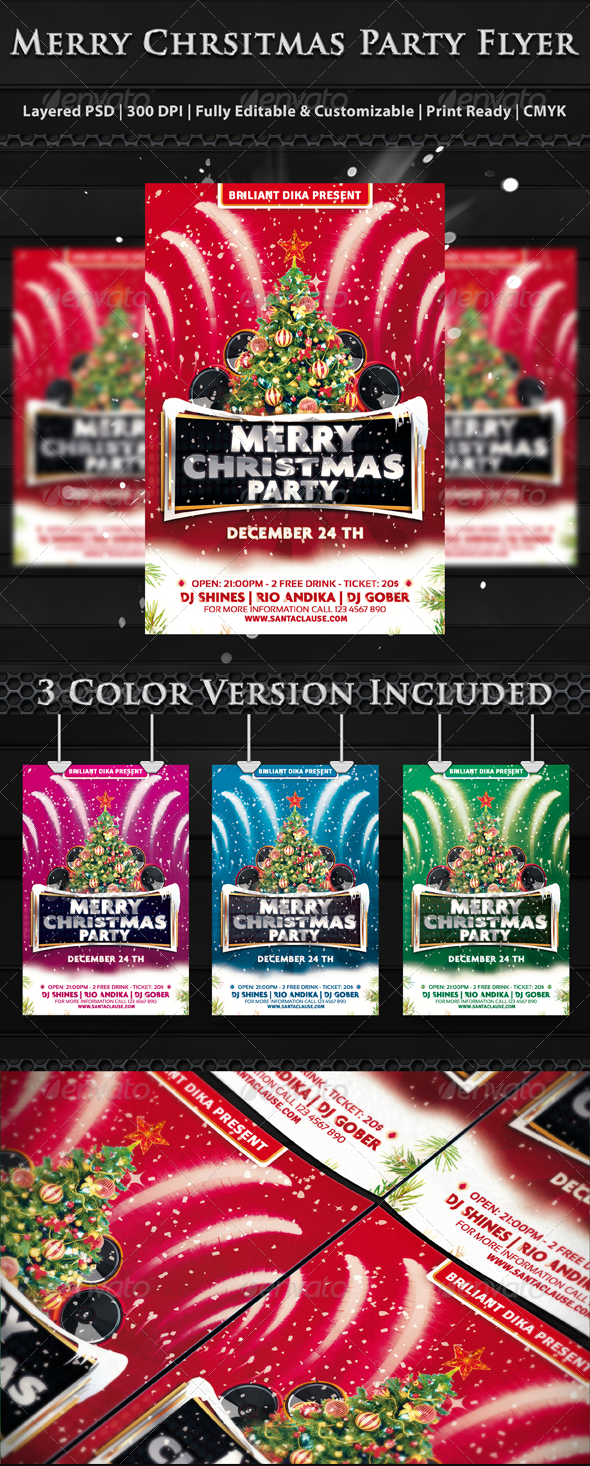 Merry Christmas Party Flyer Templates - Clubs & Parties Events