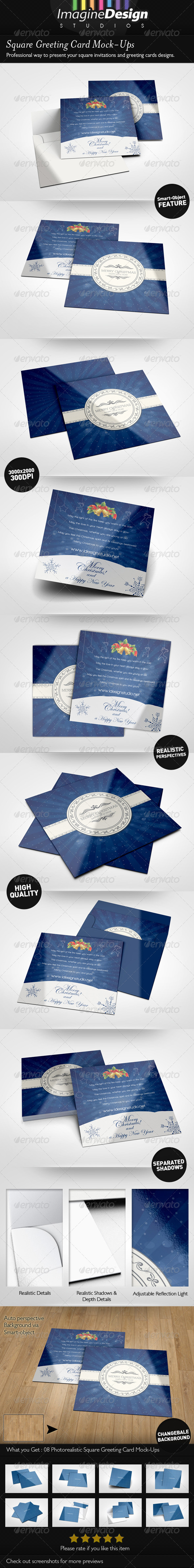 Square Greeting Card Mockup - Miscellaneous Print