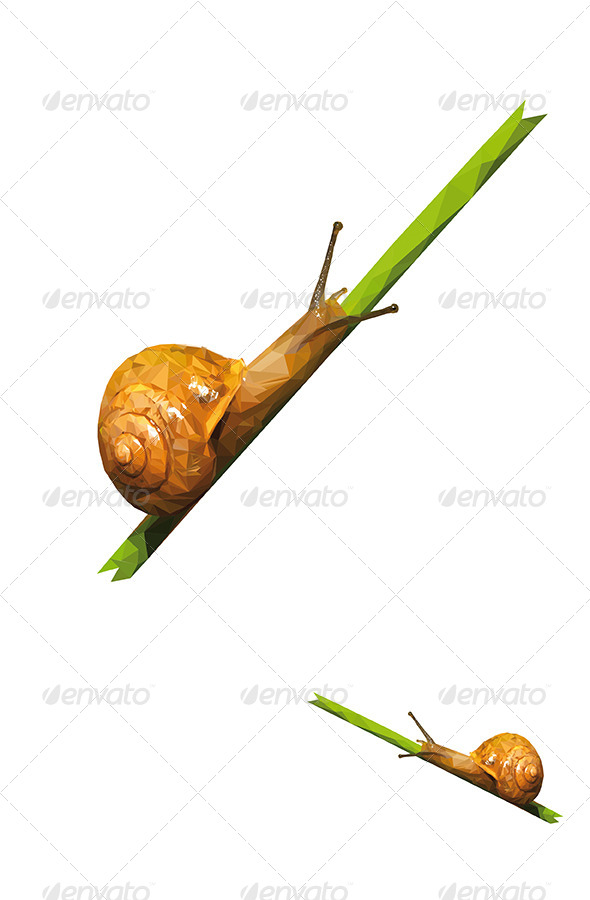 Snail Vector Triangled - Animals Characters