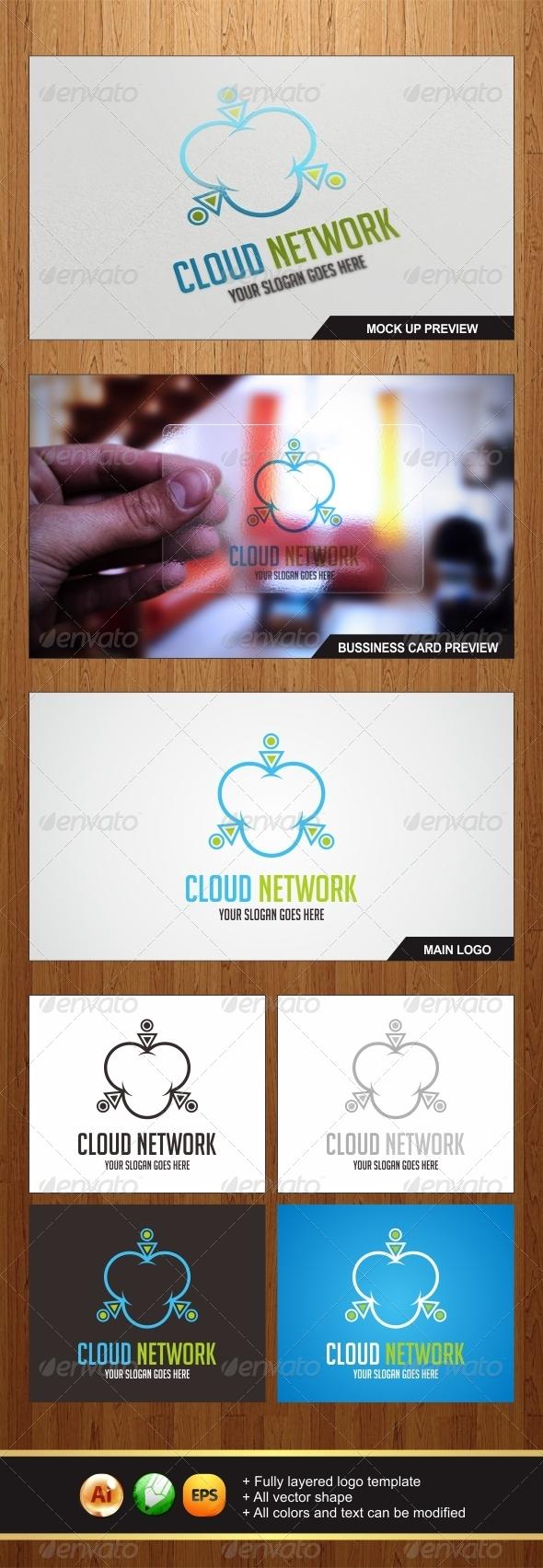 Cloud Network Logo - Symbols Logo Templates