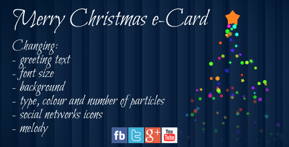 merry christmas e card codecanyon item for sale - Email Christmas Cards