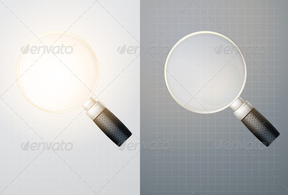 Magnifying Glass - Illustration - Man-made Objects Objects