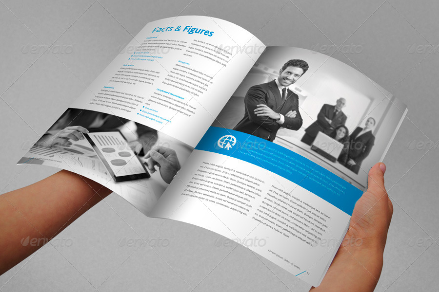 Annual Report Brochure Indesign Template  Annual Reports Templates