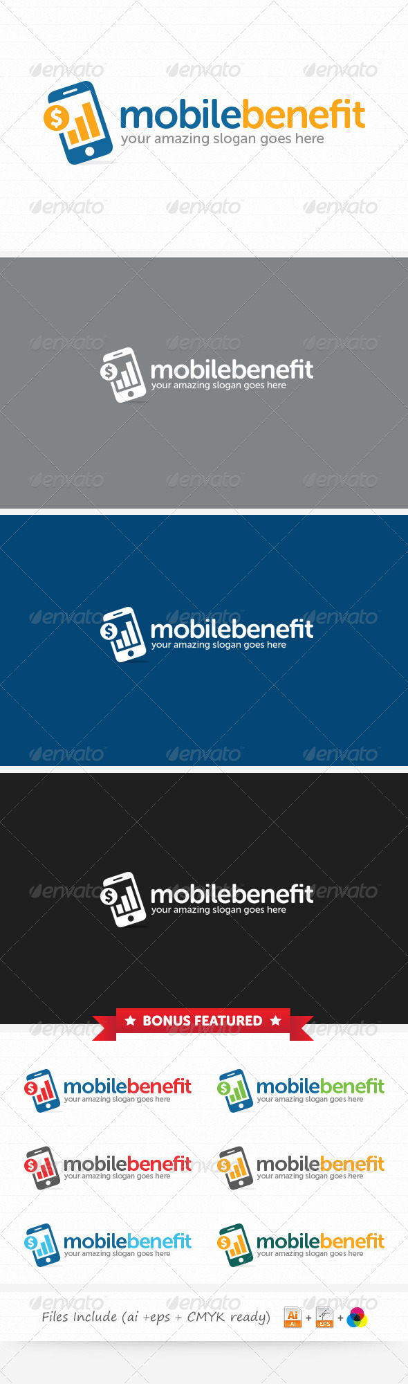 Mobile Benefit Logo - Symbols Logo Templates