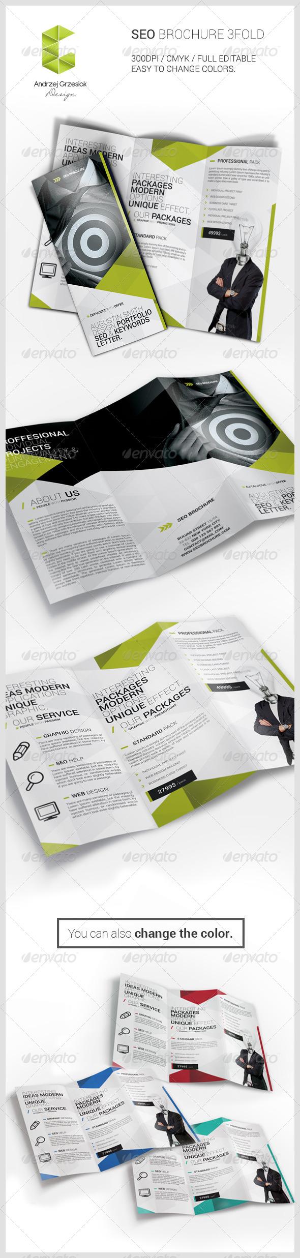 Seo Brochure - Brochures Print Templates