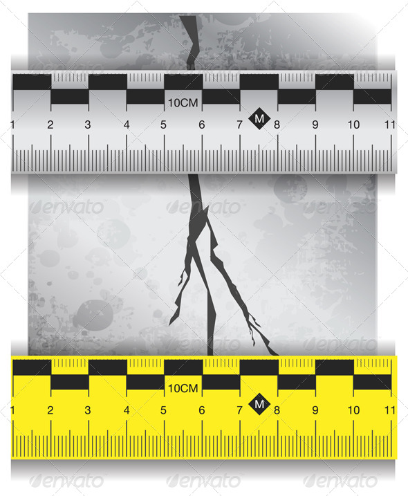 Measure Cracks in Concrete Illustration - Abstract Conceptual