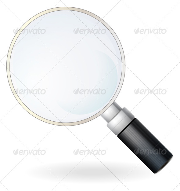 Magnifying Glass Illustration - Man-made Objects Objects