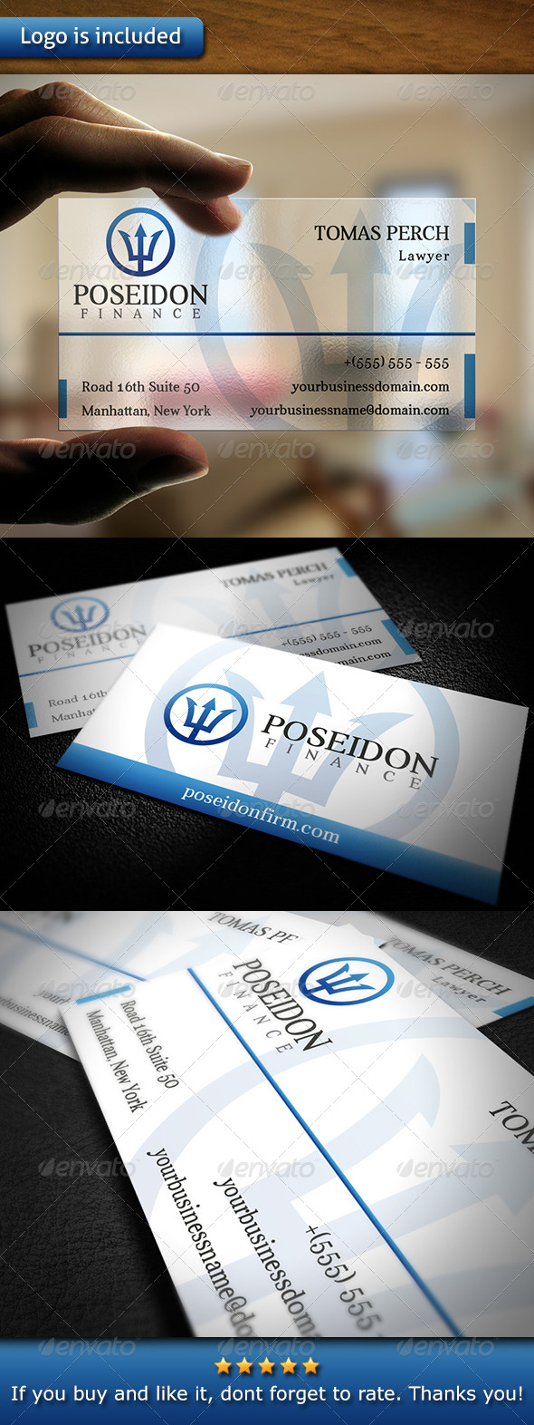 Law Firm Business Card - Corporate Business Cards