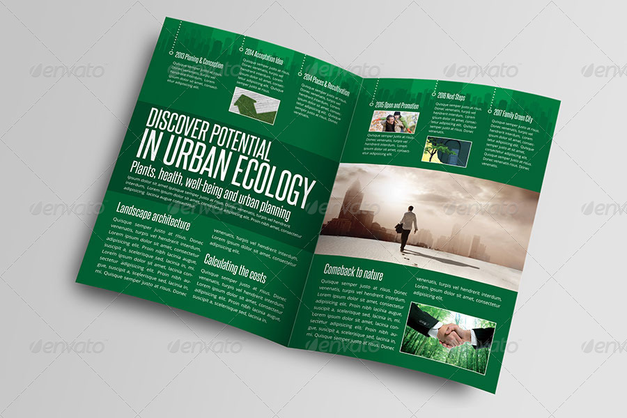 Green City Life Brochure Indesign Template By Braxas Graphicriver