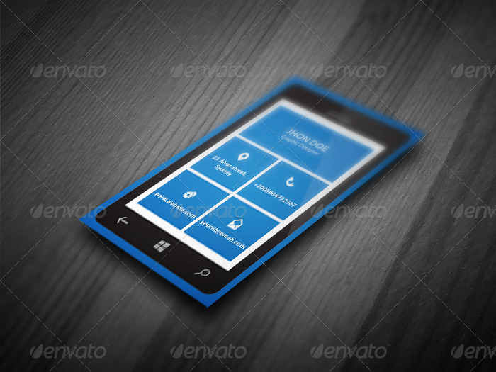 Smart phone business card template by kazierfan graphicriver smart phone business card template colourmoves