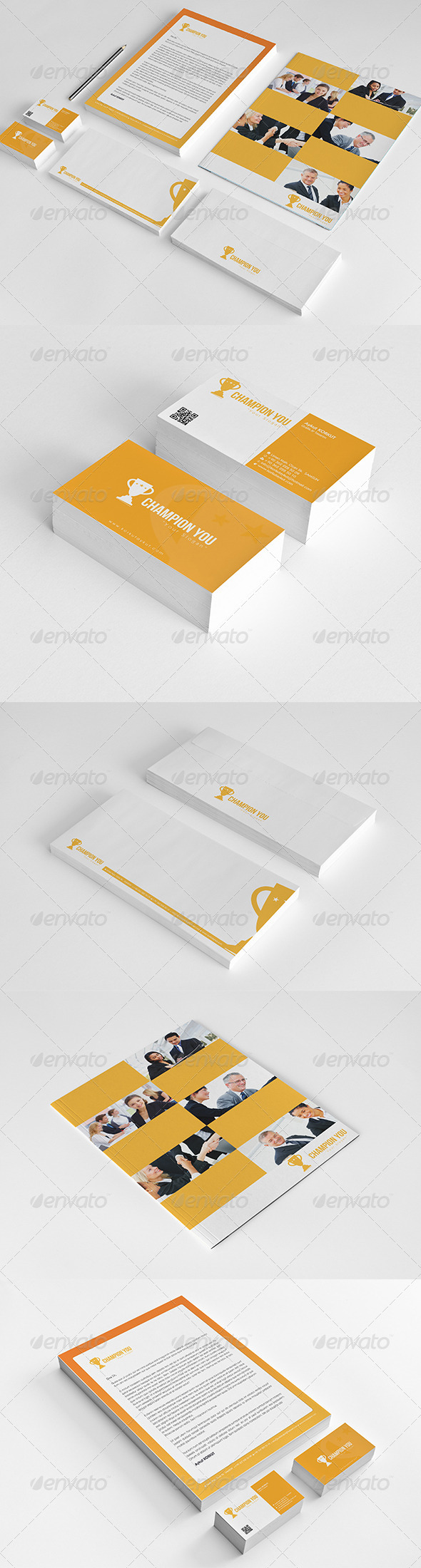 Champion Corporate Identity Package  - Stationery Print Templates