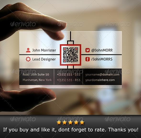 Transparent Business Card - Creative Business Cards