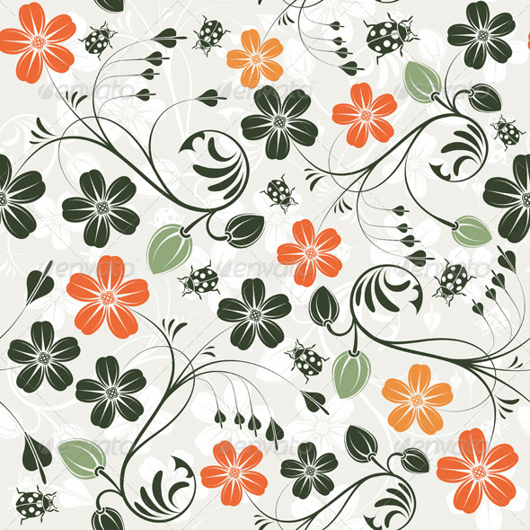 Flower Seamless Pattern - Patterns Decorative