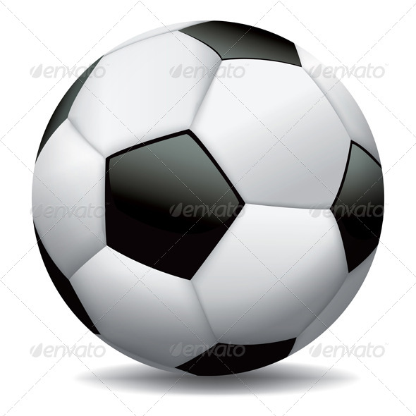 Realistic Soccer Ball on White Background - Sports/Activity Conceptual