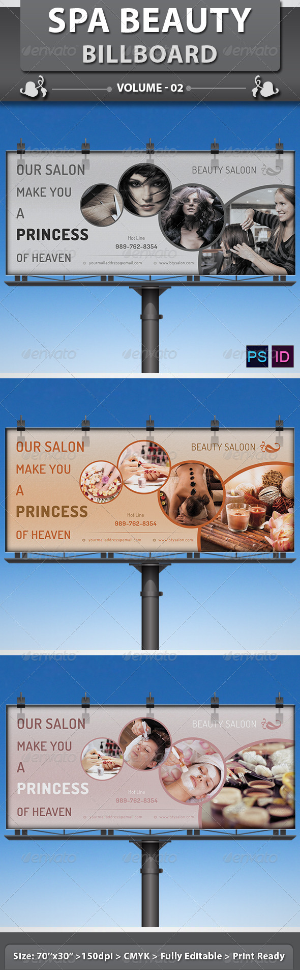 Spa Beauty Saloon Billboard Volume 4 By Dotnpix