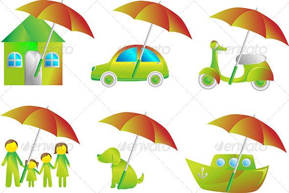 Insurance Icons - Conceptual Vectors