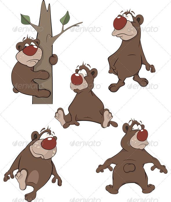 Bears Clip Art Cartoon - Animals Characters