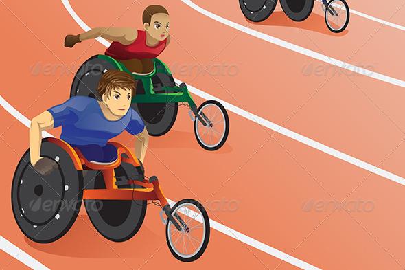 Wheelchair Race - Sports/Activity Conceptual