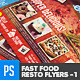 Fast Food Resto Menu & Catering Flyers