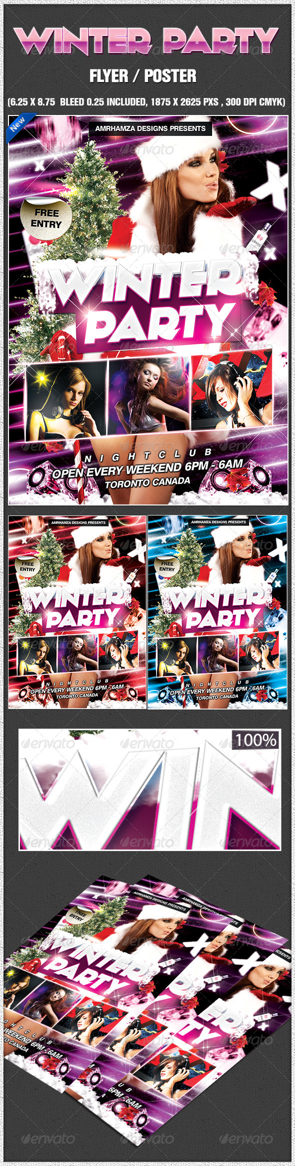 Sexy Winter Party Poster - Clubs & Parties Events