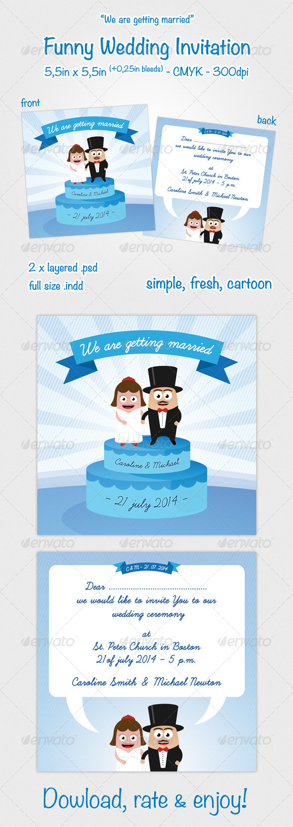 Funny Wedding Invitation by Ozi84 GraphicRiver