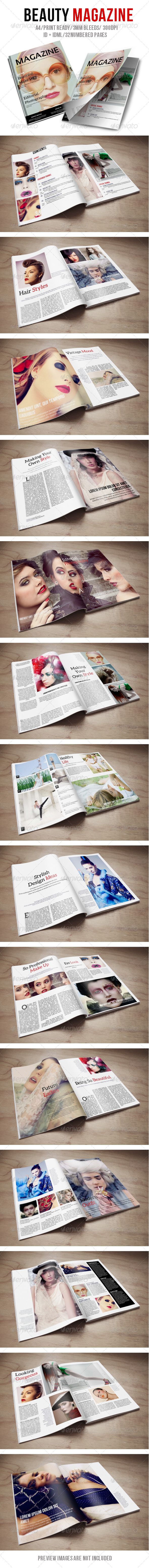 Beauty Magazine - Magazines Print Templates