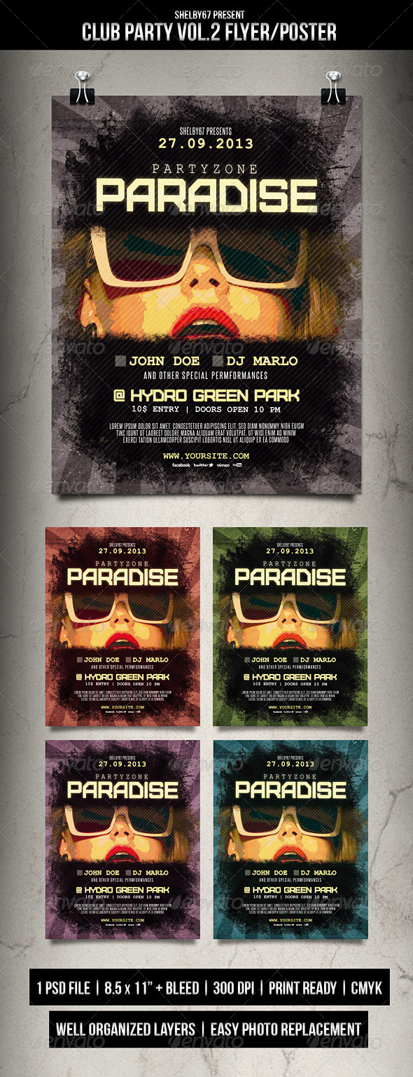Club Party Flyer / Poster Vol.2 - Clubs & Parties Events