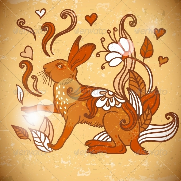 Animal Background Pattern with Rabbit  - Patterns Decorative