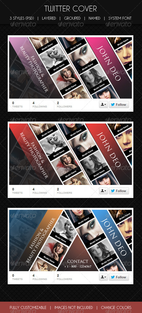 Twitter Cover Glamour & Fashion  - Twitter Social Media