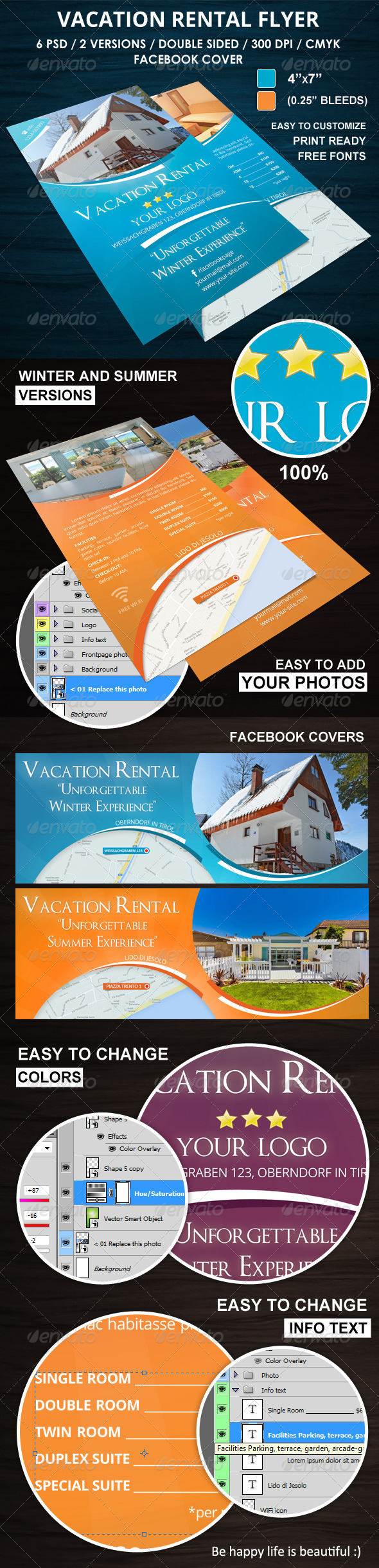 Vacation Rental Flyer - Corporate Flyers