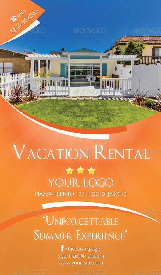 vacation rental flyer by rsplaneta