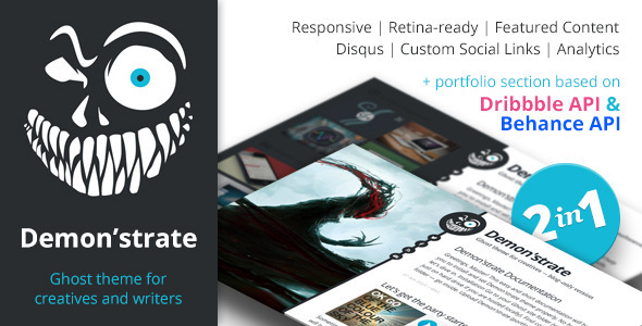 Demon'strate — Responsive Ghost Portfolio Theme