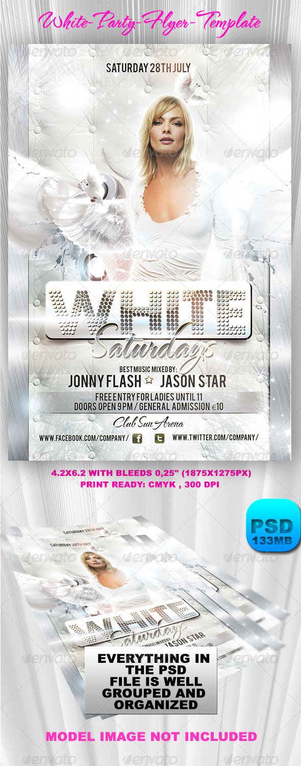 White Party Flyer Template - Events Flyers
