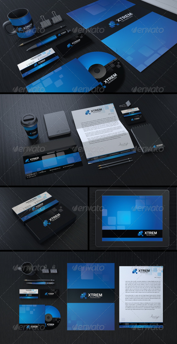 Creative Corporate Identity 01 - Stationery Print Templates