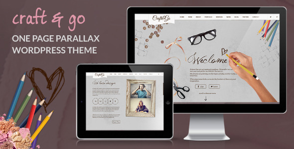 Craft&Go - Parallax OnePage Modern WordPress Theme