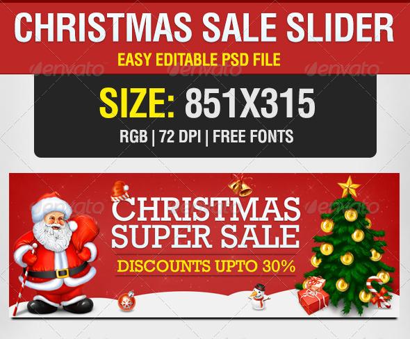 Christmas Sale Slider - Sliders & Features Web Elements