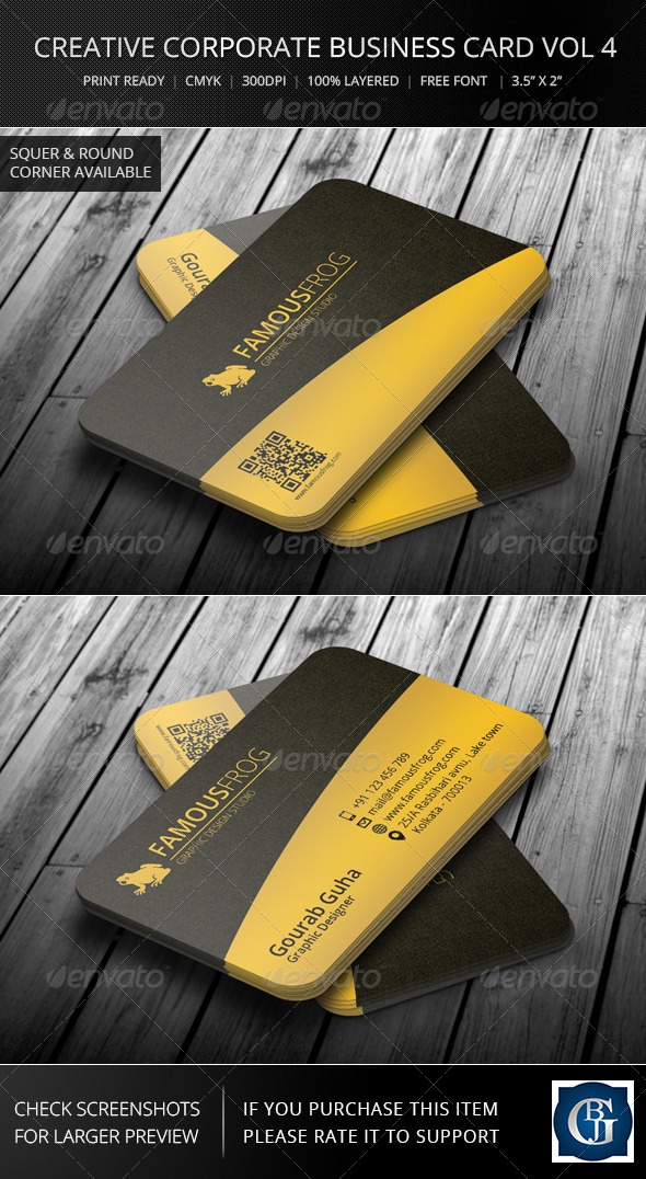 Creative Corporate Business Card Vol 6 - Corporate Business Cards