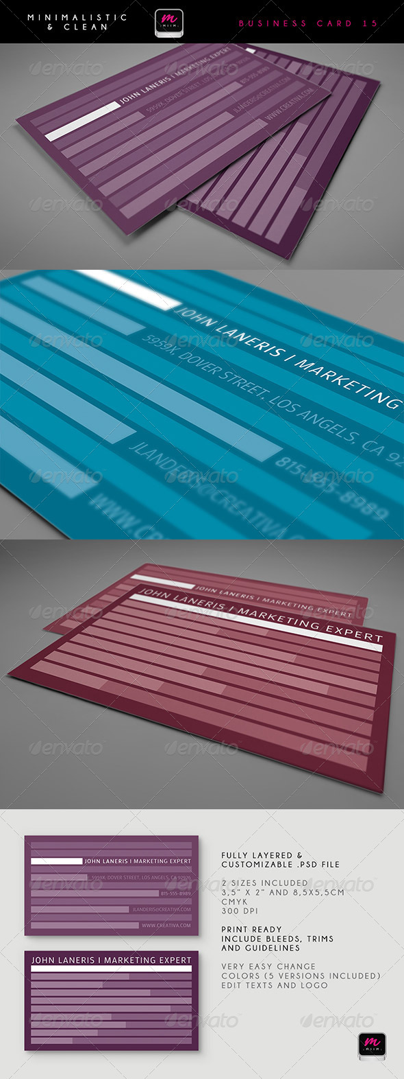 Clean Business Card Template 15 - Corporate Business Cards