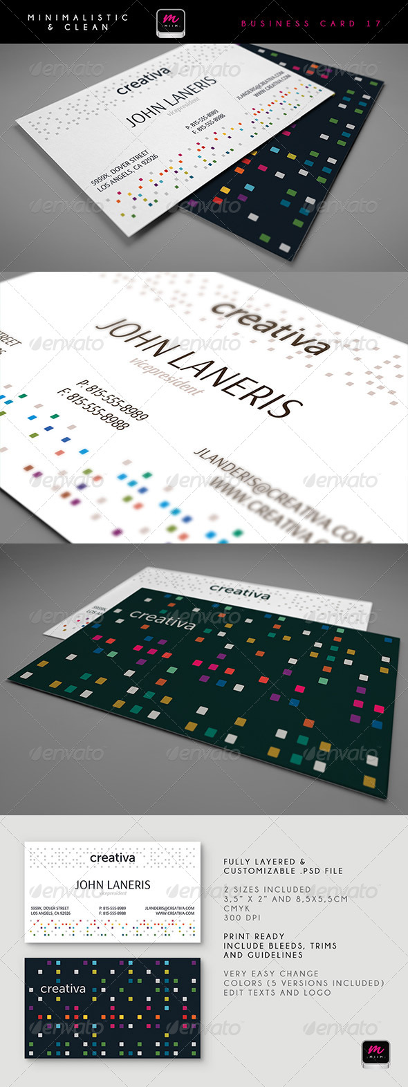 Clean Business Card Template 17 - Corporate Business Cards