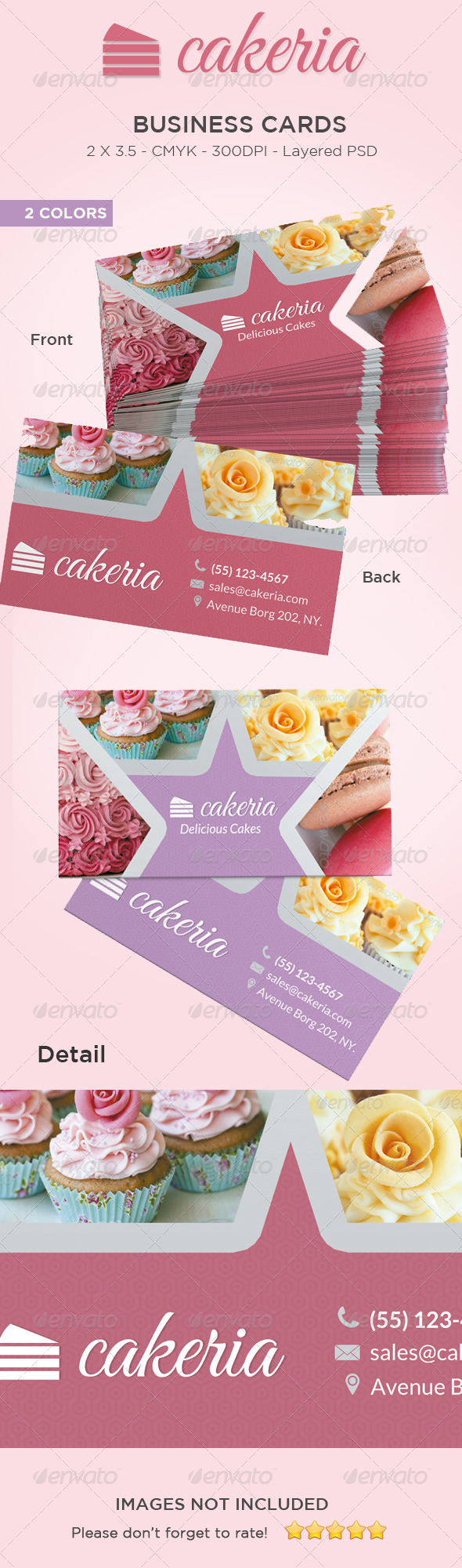 Cake / Cupcake Business Card - Industry Specific Business Cards
