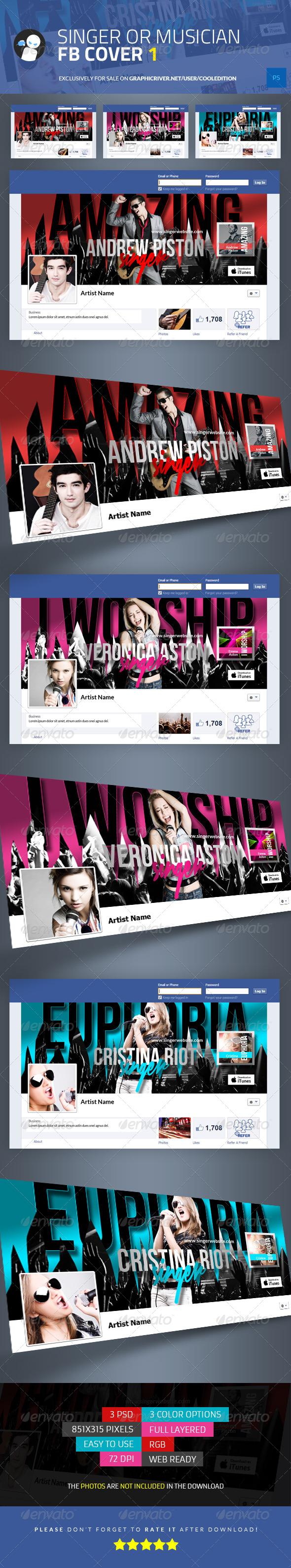 Singer or Musician Facebook Cover 1 - Facebook Timeline Covers Social Media
