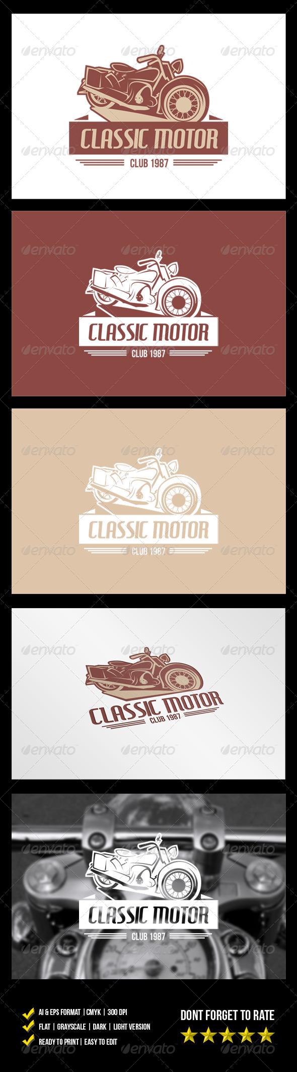 Classic Motor Logo - Objects Logo Templates