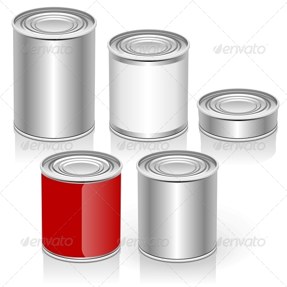 Vector Tincan Set - Food Objects