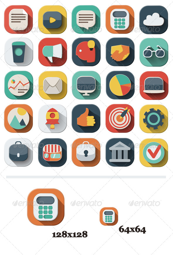 25 Business Icons Set - Business Icons