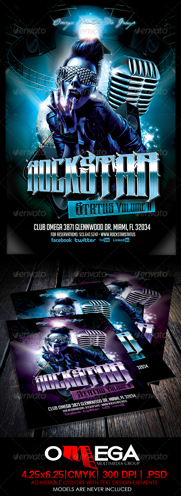 Rockstar Status Vol II - Events Flyers