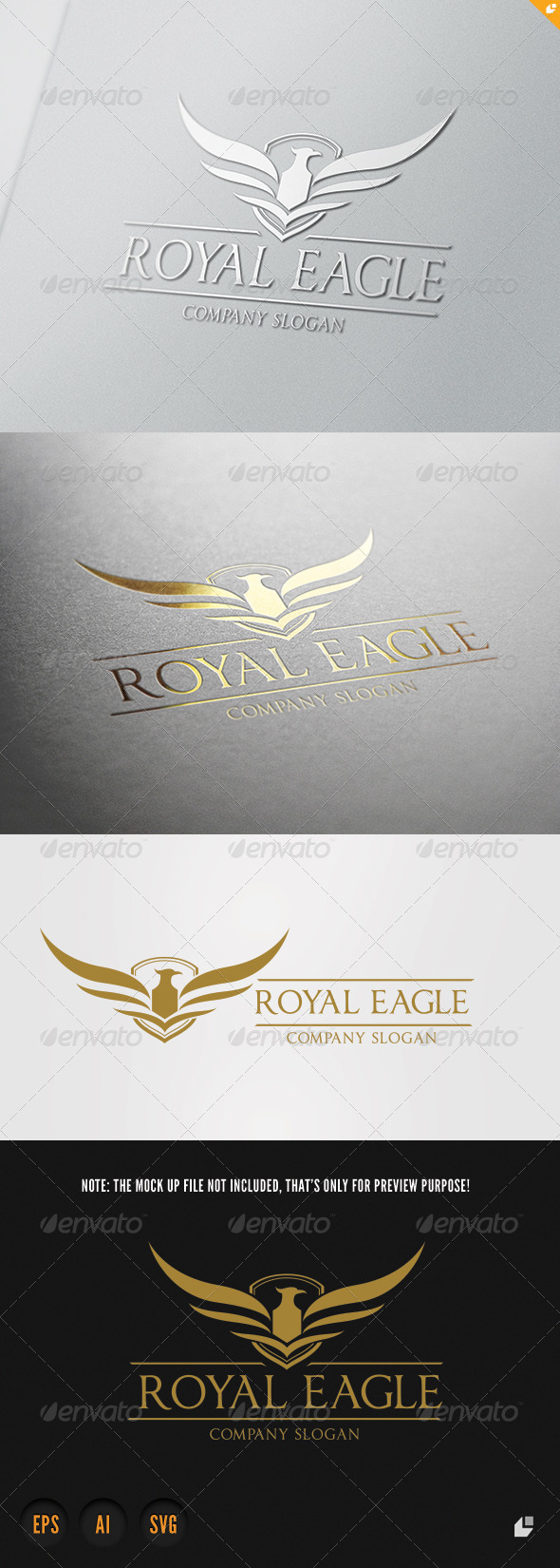 Royal Eagle V - Crests Logo Templates