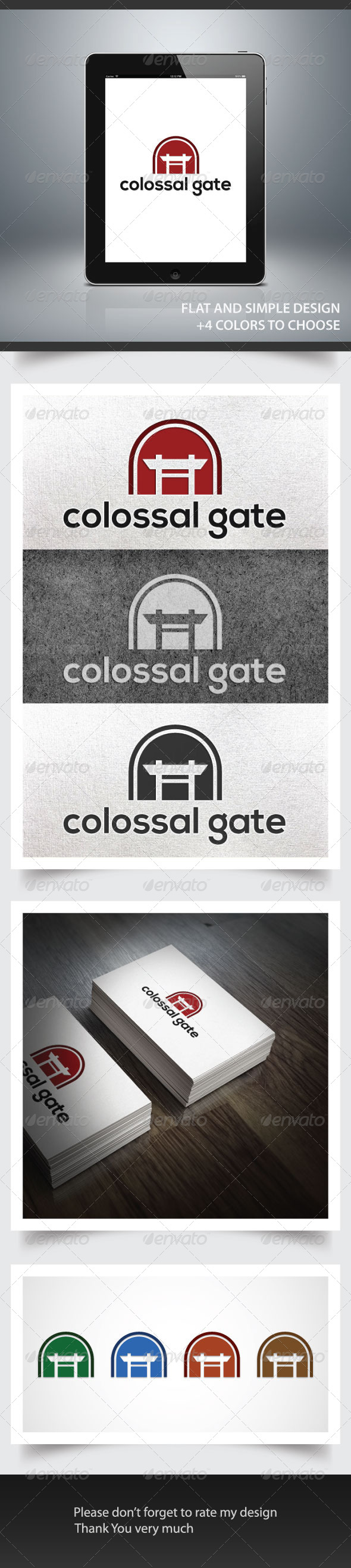 Colossal Gate - Buildings Logo Templates