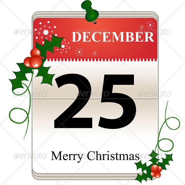 Christmas Calendar Date - Christmas Seasons/Holidays