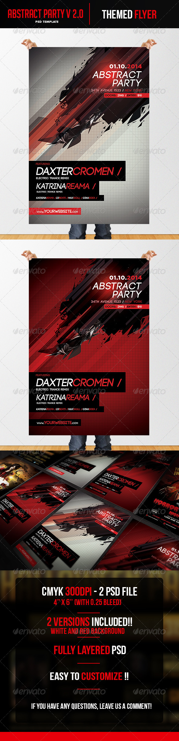 Abstract V2 Flyer Template - Clubs & Parties Events